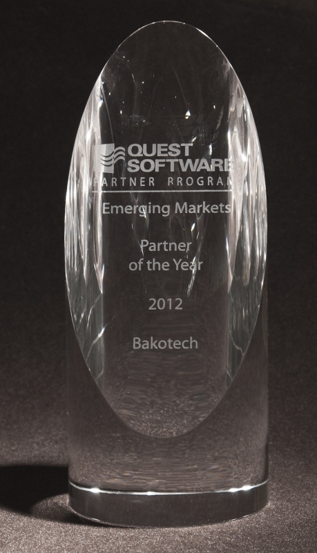 2012 Emerging Markets Partner Award from Quest Software